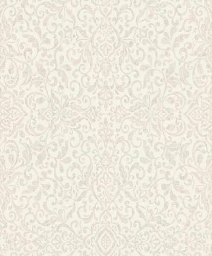 Non-Woven Wallpaper Baroque cream silver Metallic 296142 online kaufen