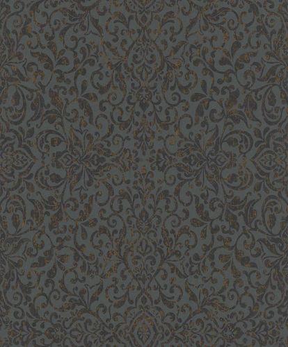 Vliestapete Ornament anthrazit kupfer Metallic 296166
