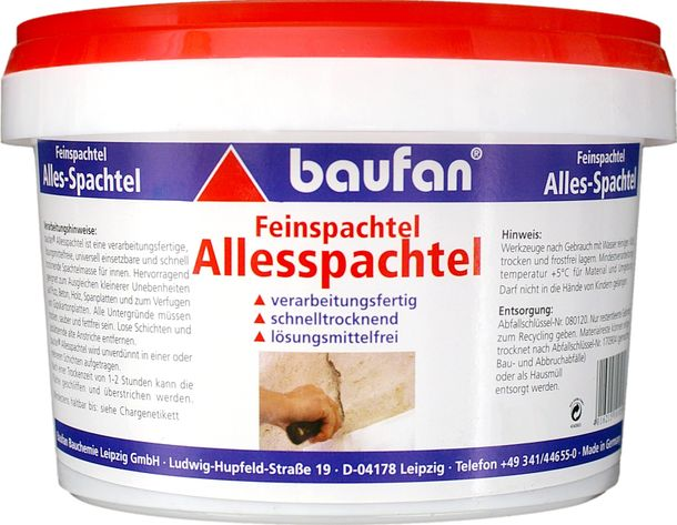 Baufan All-purpose putty 15 kg Fine putty fast drying