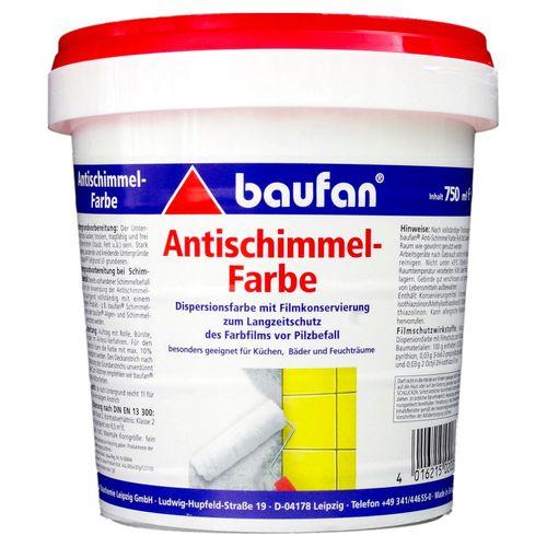 Baufan Antischimmel-Farbe Badfarbe Küchenfarbe 750 ml