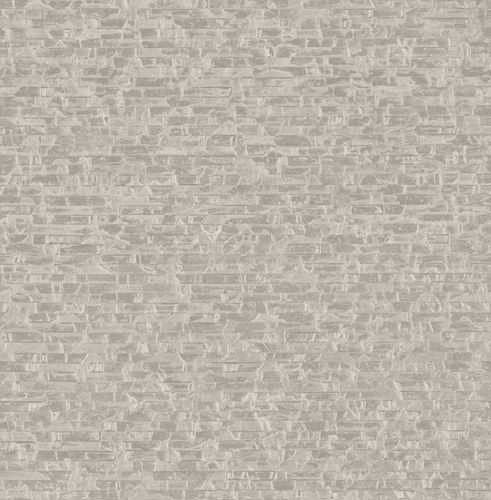 Non-woven Wallpaper Strappy Stones grey Gloss 124902 online kaufen