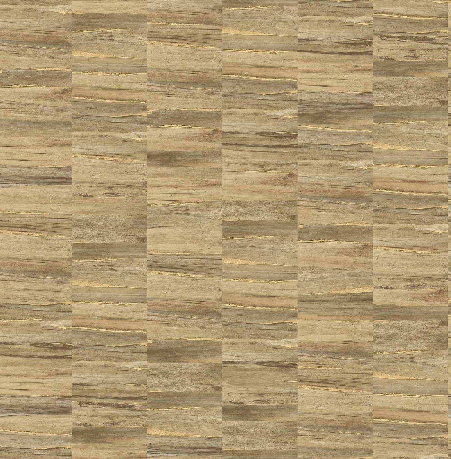 Tapete Vlies Holz Braun Gold Glanz Artisan 124906