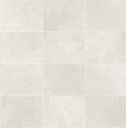 Non-woven Wallpaper Tiles grey white Gloss 124911 online kaufen