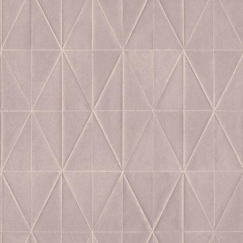Non-Woven Wallpaper Rhombus 3D grey pink Blush 148709 online kaufen