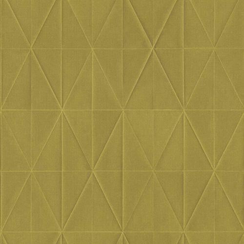 Non-Woven Wallpaper Rhombus 3D yellow green Blush 148711 online kaufen