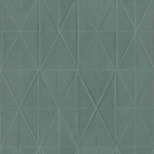 Non-Woven Wallpaper Rhombus 3D blue green grey 148712 online kaufen