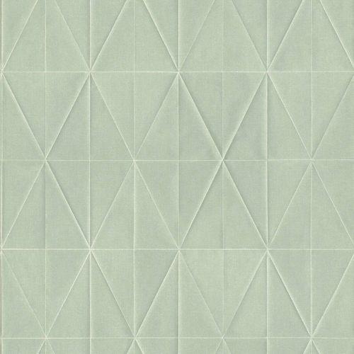 Tapete Vlies Rauten 3D mintgrün weiß Blush 148713 online kaufen