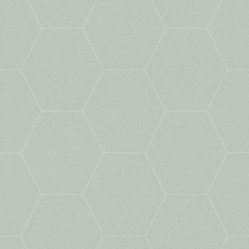Tapete Vlies Waben Grafisch weißgrün Blush 148750 online kaufen