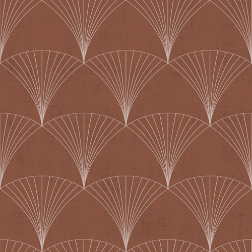 Tapete Vlies Faecher Grafik rotorange beige Design 012002 193799