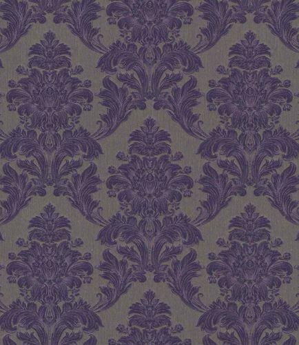 Textiltapete Ornament Floral lila grüngrau Glanz 086163 online kaufen