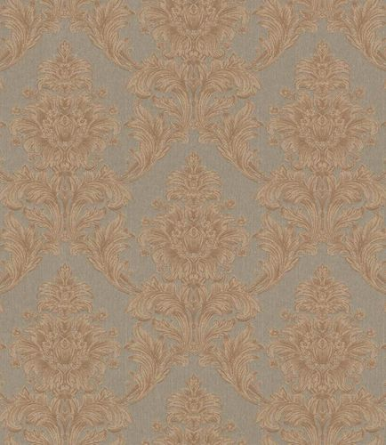 Textile Wallpaper Ornament taupe brown Gloss 086187 online kaufen