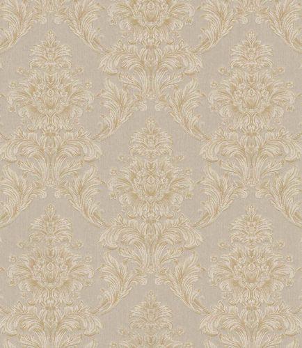 Textiltapete Ornament Floral graubeige Glanz 086194 online kaufen