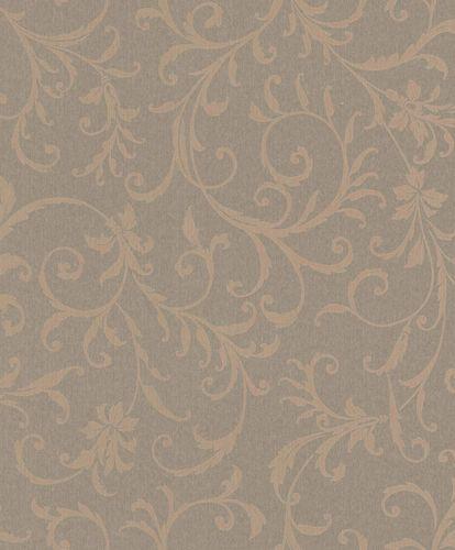 Textiltapete Ornament Ranken taupe Glanz Mondaine 086255 online kaufen