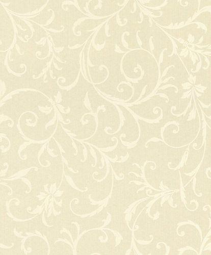 Textiltapete Ornament Ranken cremeweiß Glanz 086293 online kaufen