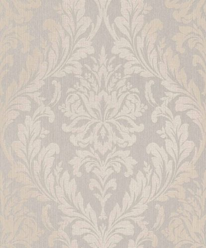 Textile Wallpaper Large Ornament grey beige Gloss 086354 online kaufen