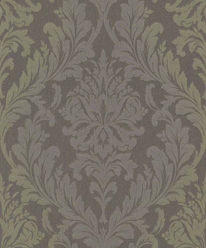 Textiltapete Blattornament grün-lila Flop Glanz 086361 online kaufen