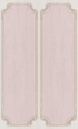Vinylborte Ornament Kasetten rosa creme 007854