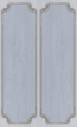 Vinylborte Ornament Kasetten blassblau beige 007857
