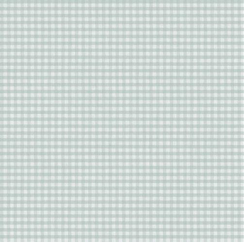 Vinyl Wallpaper checked pattern beige turquoise 007867