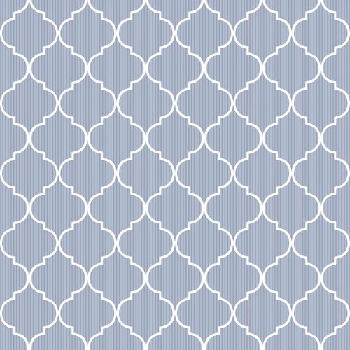 Vinyl Wallpaper grid ornaments Stripes white blue 007879 online kaufen