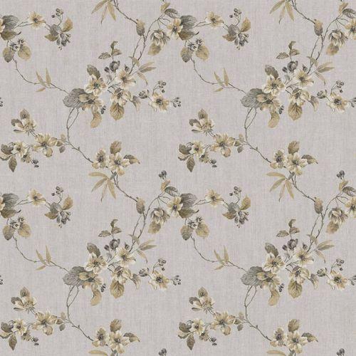 Vinyl Wallpaper flower tendril gold brown grey 107803 online kaufen