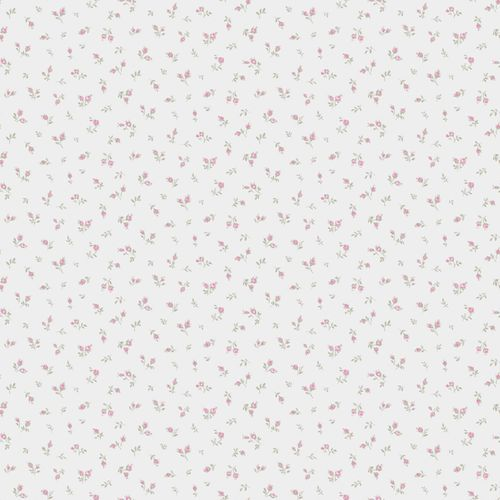 Vinyl wallpaper little flowers white pink grey 107831 online kaufen