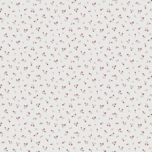Vinyl wallpaper little flowers white red green 107832 online kaufen