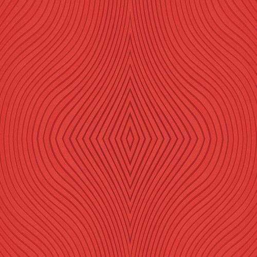 Tapete Vlies Wellen Grafik rot Glanz Marburg 52522 online kaufen