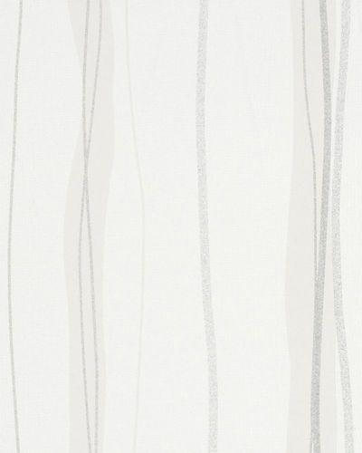 Vliestapete Struktur Wellen weiß beige Glitzer 53618