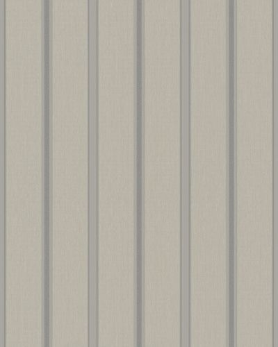 Non-Woven Wallpaper Stripes beige greige Glitter 57467