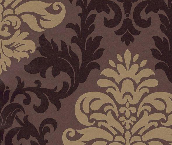 Retro Barock Lounge Tapete 156645 braun gold glänzend online kaufen