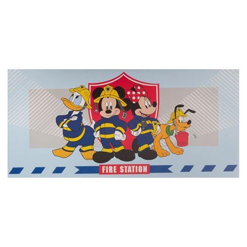 Disney Leinwandbild Mickey Mouse Feuerwehr blau Keilrahmen  online kaufen