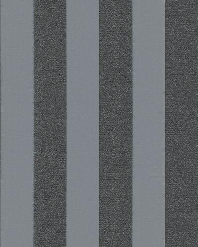 Tapete Vlies Blockstreifen Glitzer silber schwarz 6752-20