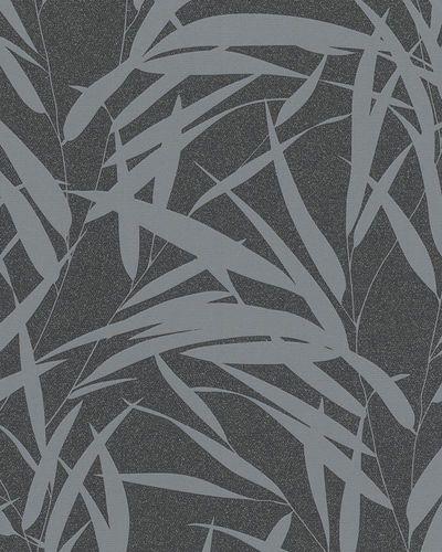 Non-woven wallpaper leaves glitter gloss black 6753-20 online kaufen