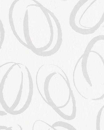 Tapete Vlies Kreise Abstrakt Glanz weiß beigegrau 6755-20