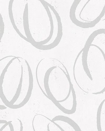 Non-woven wallpaper circles abstract gloss white 6755-30 online kaufen