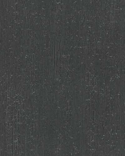 Tapete Vlies Linienstruktur schwarz silber Glanz 6760-60