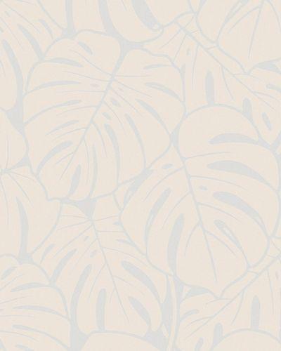 Tapete Vlies Große Blätter silber beige Glanz 6761-40 online kaufen