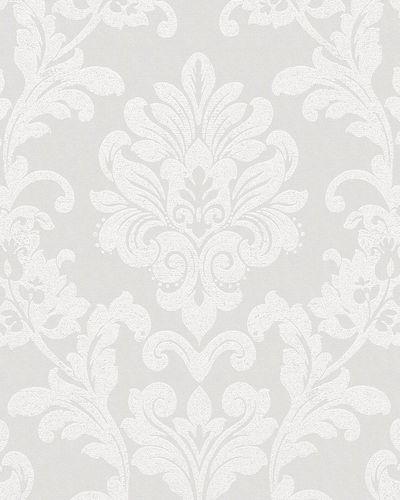 Tapete Vlies Ornament Glitzer creme weiß Glanz 6762-10