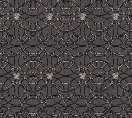 Versace Home Tapete Medusa dunkelgrau Metallic 370494