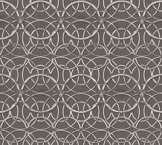 Wallpaper Versace Home Circles brown cream Metallic 370495 online kaufen