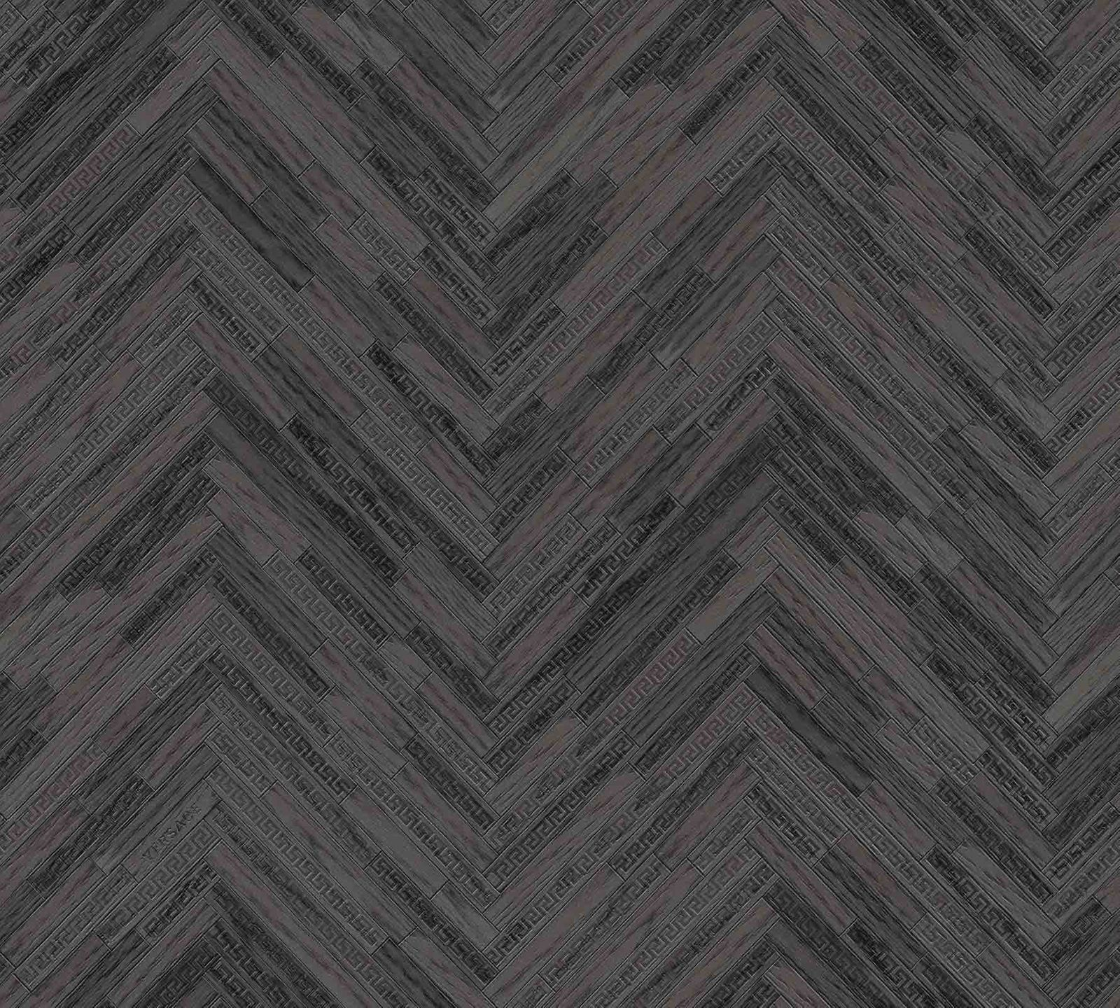 Wallpaper Versace Home Herringbone Black Gloss 370514