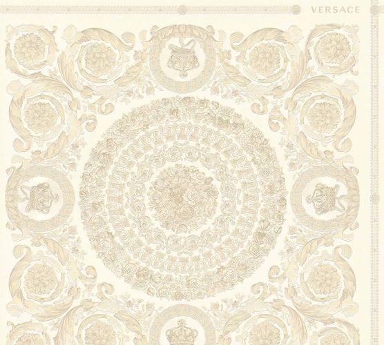 Versace Home Tapete Kacheln creme beige Metallic 370551