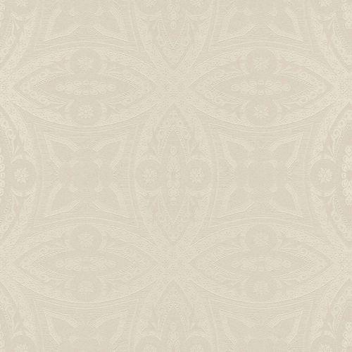 Tapete Vlies Stuck-Optik weißgold Glanz Rasch 529715