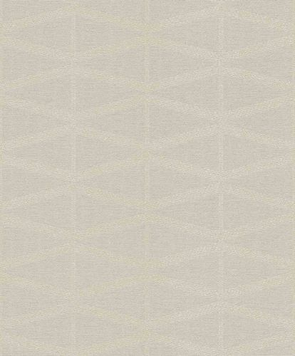 Non-Woven Wallpaper Triangles light taupe Gloss 529814