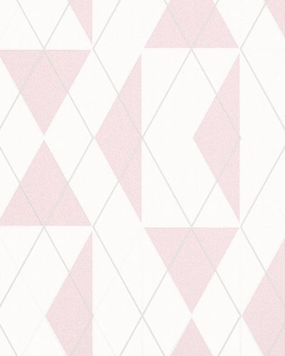 Non-Woven Wallpaper Triangle Graphic pink Gloss 6737-10