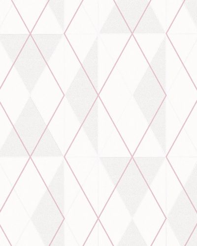 Non-Woven Wallpaper Triangle beige pink Gloss 6737-20