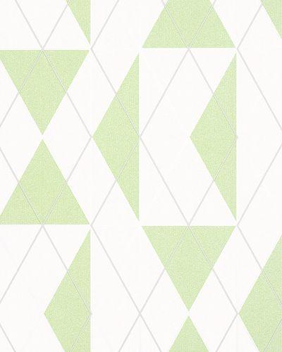 Non-Woven Wallpaper Triangle Graphic green Gloss 6737-30 online kaufen