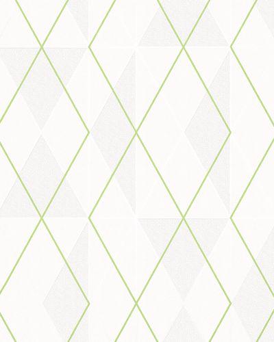 Non-Woven Wallpaper Triangle cream green Gloss 6737-40 online kaufen