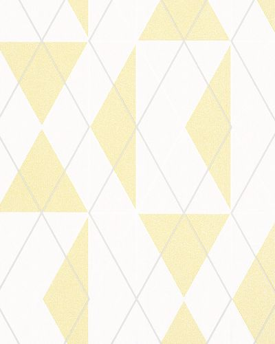 Non-Woven Wallpaper Triangle Graphic yellow Gloss 6737-50